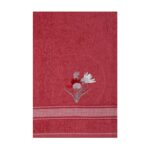 Folded Coral coloured 3D Noble Hand Towel