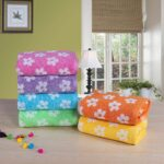 Daisy Bath Towels of 6 varying colours