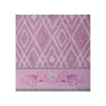 Pink Folded Emerald Printed Hand Towel