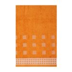 Folded Orange Excellence Bath Towels