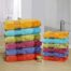 Multiple colours of Marvel Bath Towels stacked